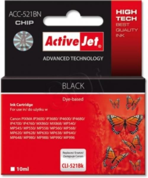 ActiveJer črno črnilo Canon CLI-521Bk