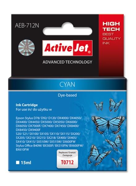 ActiveJet cyan črnilo Epson T0712