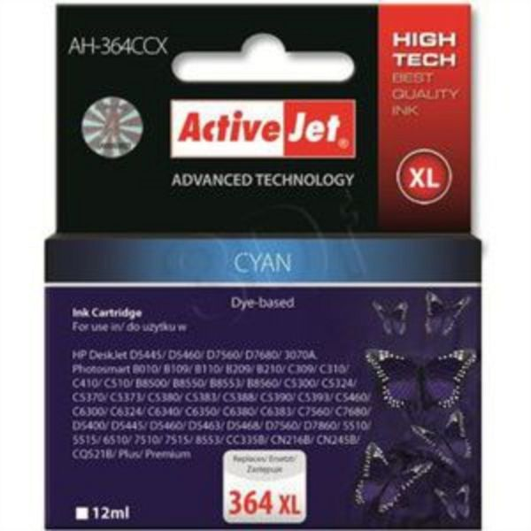 ActiveJet cyan črnilo HP CB323EE 364 XL