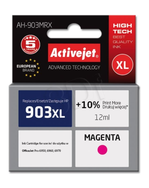 ActiveJet magenta črnilo HP 903 XL T6M07AE