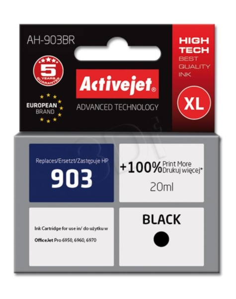 ActiveJet črno črnilo HP 903 T6L99AE