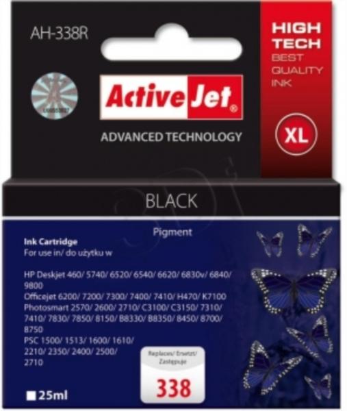 ActiveJet črno črnilo HP C8765EE 338
