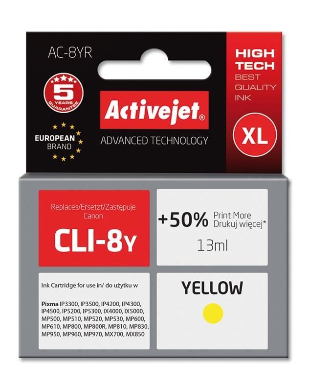 ActiveJet rumeno črnilo Canon CLI-521Y