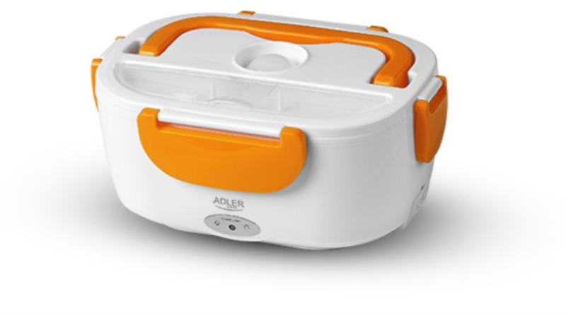 Adler električna posoda za malico 1.1 l oranžna