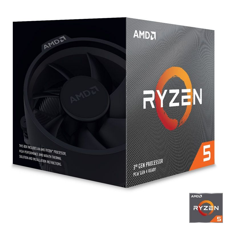 AMD Ryzen 5 3600X 3,8/4,4GHz 32MB AM4 Wraith Spire hladilnik BOX procesor + darilo: brezplačna igra