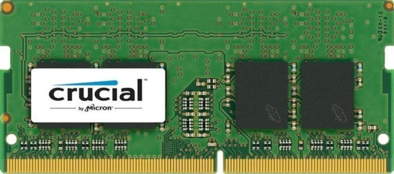 Crucial 8GB DDR4-2400 SODIMM PC4-19200 CL17, 1.2V Single Ranked