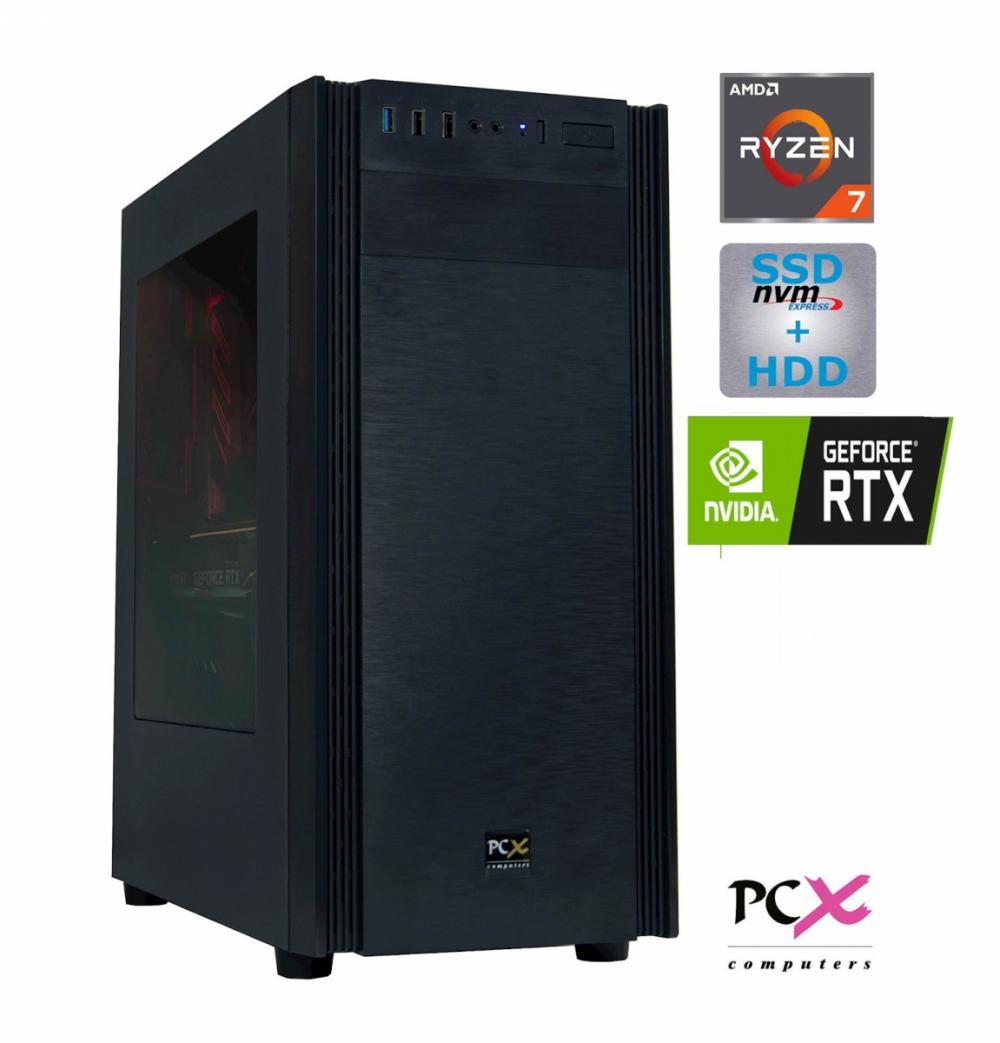 Namizni računalnik PCX EXTIAN XA6 R7 2700/16GB/250GB/1TB/GTX1660-6GB