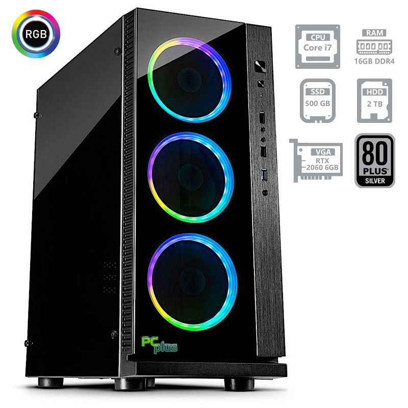 PCPLUS Dream machine i7-8700 16GB 500GB NVMe SSD + 2TB RTX2060 6GB gaming namizni računalnik