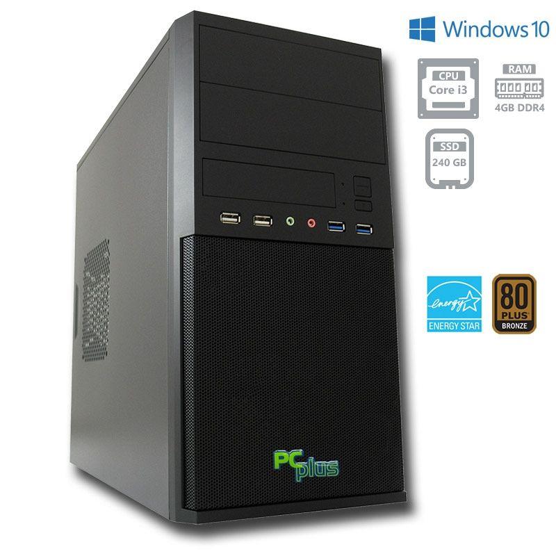 PCPLUS e-office i3-8100 4GB 240GB SSD Windows 10 Pro namizni računalnik