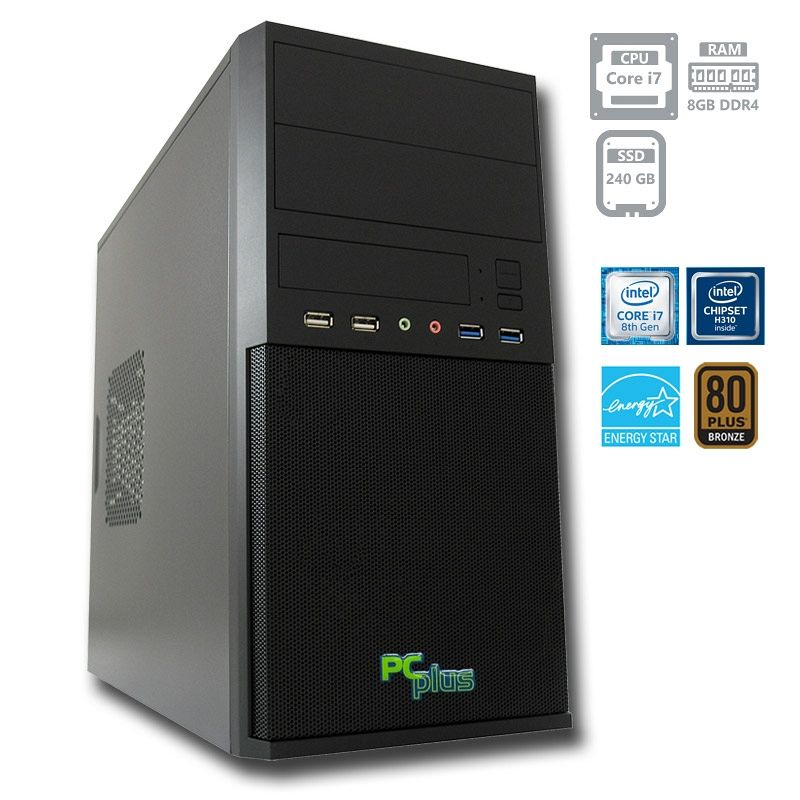 PCPLUS e-office i7-8700 8GB 240GB SSD namizni računalnik