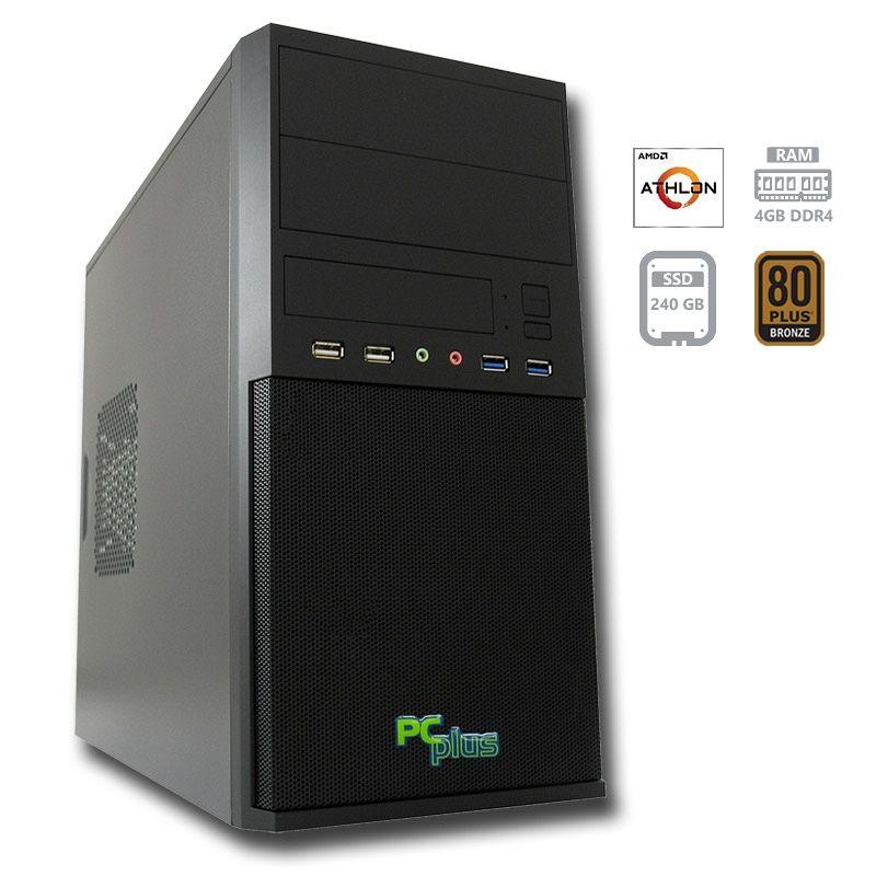 PCPLUS i-net Athlon 200GE 4GB 240GB SSD namizni računalnik