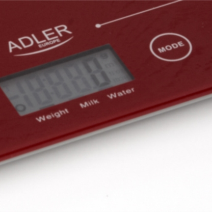 Adler kuhinjska tehtnica rdeča