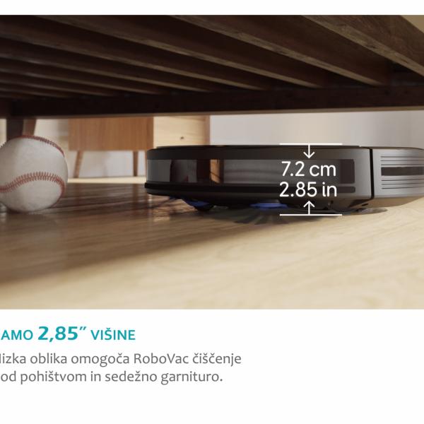 Anker RoboVac R500 robotski sesalnik črn + DARILO: Eufy pametna WiFi nastavljiva LED sijalka