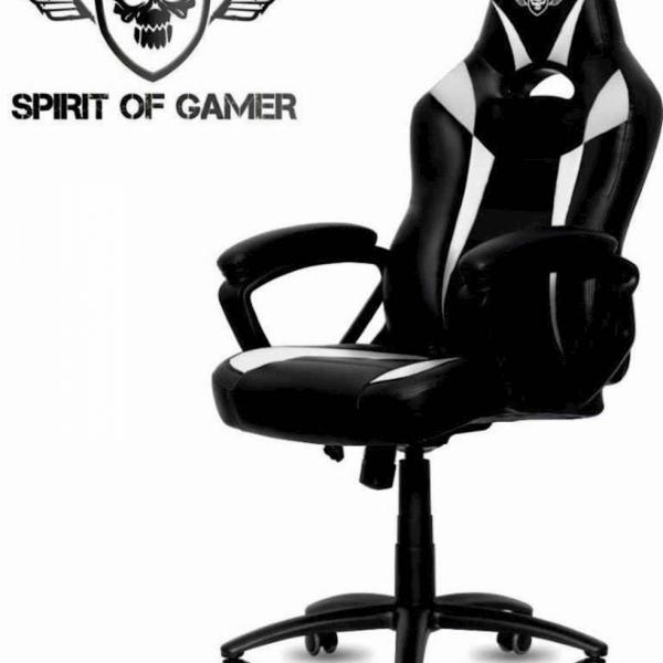 Gaming stol Spirit of gamer FIGHTER črno-rdeče barve