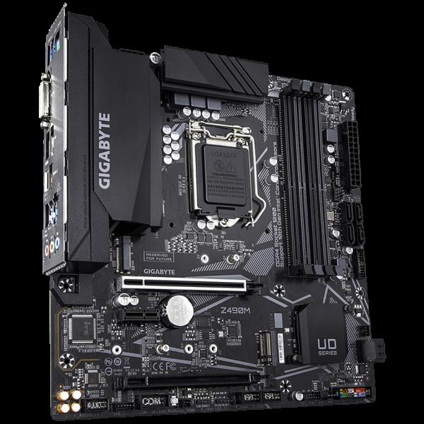 GIGABYTE Z490M, DDR4, SATA3, USB3.2Gen2, DP, LGA1200 mATX