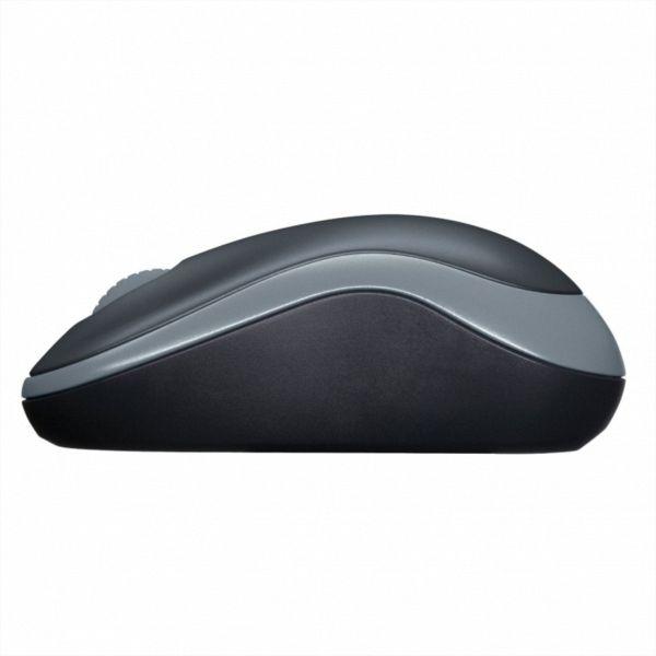 Logitech M185 Wireless mini miška, siva