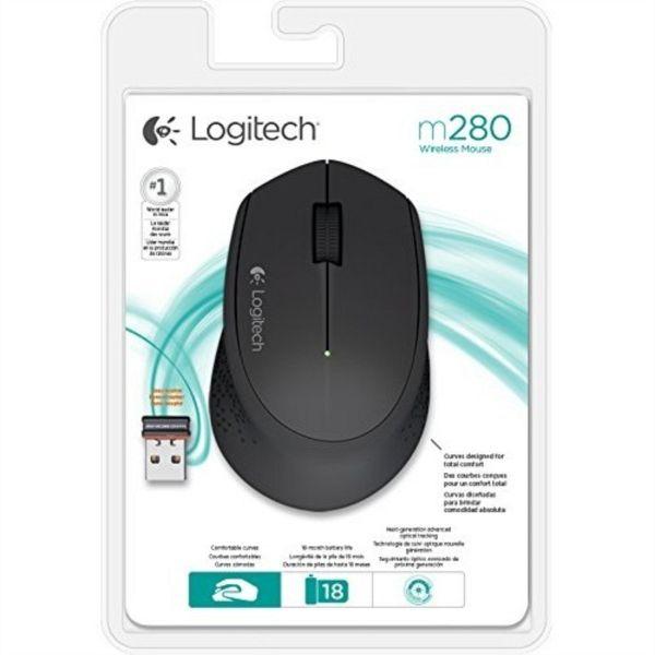 Logitech M280 Wireless miška, črna