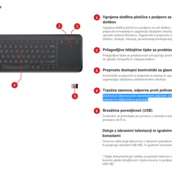 Microsoft All-In-One Media tipkovnica