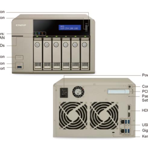 QNAP TVS-663 NAS strežnik za 6 diskov