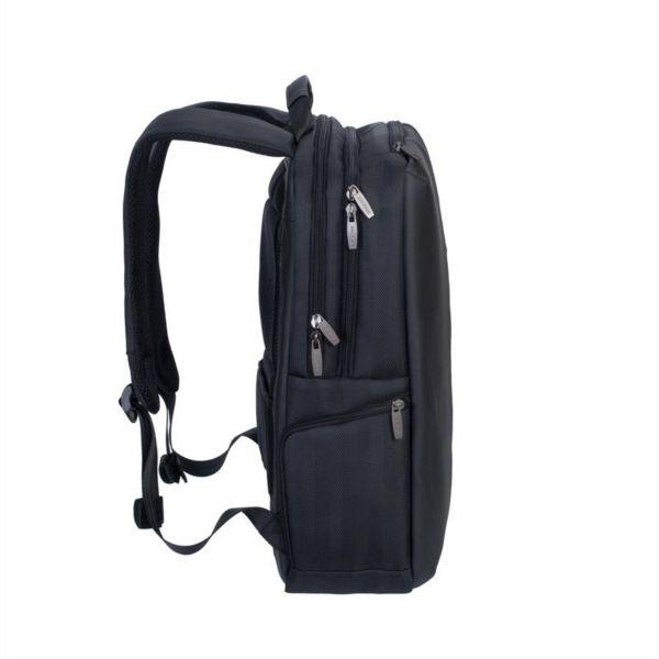 RivaCase črn nahrbtnik za prenosnik 15.6