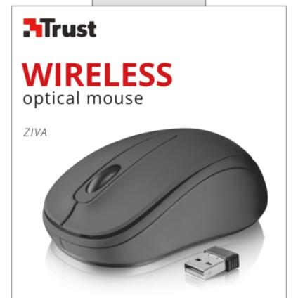 Trust 21509 ZIVA brezžična miška, črna