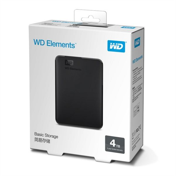 WD ELEMENTS 4TB zunanji disk USB 3.0 2,5