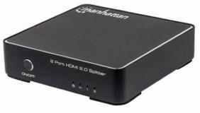 4K 2-vhodni HDMI Razdelilec MANHATTAN