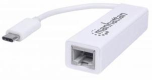 Adapter SuperSpeed USB C/Gigabit Network MANHATTAN