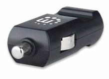Avtopolnilec USB-A 10,5W MANHATTAN, črne barve, 1xUSB-A (5V/2,1A), LED indikator