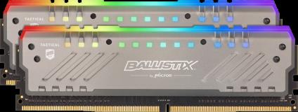 Crucial Ballistix Tactical Tracer RGB 16GB Kit (2x8GB) DDR4-3200 UDIMM PC4-25600 CL16, 1.35V