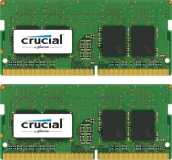 Crucial 16GB Kit (2 x 8GB) DDR4-2400 SODIMM PC4-19200 CL17, 1.2V Single Ranked
