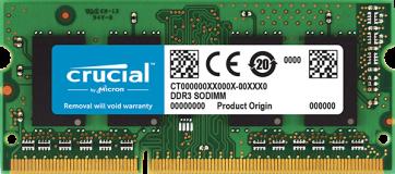 Crucial 4GB DDR3L-1333 SODIMM PC3-10600 CL9, 1.35V/1.5V za Mac