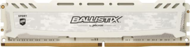 Crucial Ballistix Sport LT White 4GB DDR4-2666 UDIMM PC4-21300 CL16, 1.2V