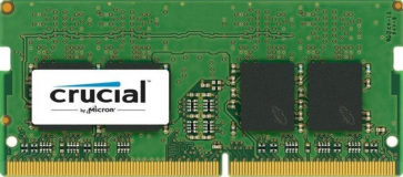 Crucial 8GB DDR4-2400 SODIMM PC4-19200 CL17, 1.2V Single Ranked