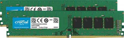 Crucial 8GB Kit (2 x 4GB) DDR4-3200 UDIMM PC4-25600 CL22, 1.2V