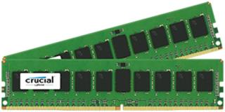 Crucial 8GB Kit (2 x 4GB) DDR4-2400 UDIMM PC4-19200 CL17, 1.2V Single Ranked