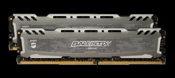 Crucial Ballistix Sport LT Gray 32GB Kit (2 x 16GB) DDR4-3200 UDIMM PC4-25600 CL16, 1.35V