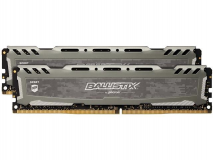 Crucial Ballistix Sport LT Gray 16GB Kit (2 x 8GB) DDR4-3000 UDIMM PC4-24000 CL15, 1.35V