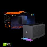 Gaming BOX GIGABYTE AORUS GeForce RTX 3090 WATERFORCE 24G, 24GB GDDR6X, Thunderbolt 3 type-C
