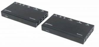 HDMI podaljševalnik preko Etherneta MANHATTAN, do 40 m za 4K@30Hz in do 70 m za 1080p