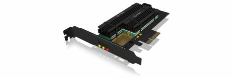 Icybox PCIe razširitvena kartica za 2x M.2 SSD-ja s hladilnikom