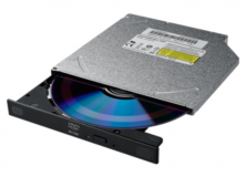Liteon DS-8ACSH DVD-RW zapisovalnik, Slim, SATA, črn, bulk, 12,7mm