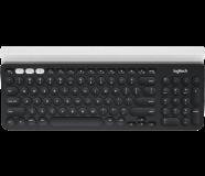 Logitech Multi-Device Wireless siva/bela SLO gravura
