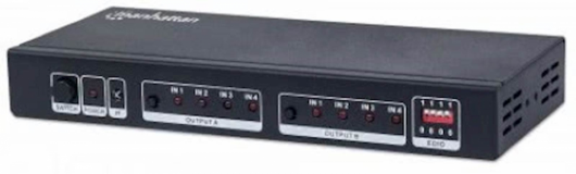 Matrica 4K 4x2 HDMI MANHATTAN, črne barve