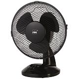 MIA VLO 3021S 27 cm črn namizni ventilator