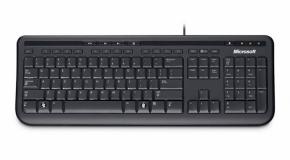 Microsoft tipkovnica Wired Keyboard 600, črna, slovenska