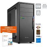 PCPLUS i-net AMD Ryzen 3 3200G 8GB 256GB NVMe SSD Windows 10 Home + darilo:1 leto Office 365 Personal namizni računalnik