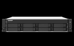 QNAP NAS strežnik za 8 diskov, 2U, 4GB ram, 2x 2.5Gb mreža; HDMI
