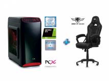 Računalniški komplet PCX EXACT i5-9400F/8GB/SSD 250GB/HDD 1TB/1650-4GB + SOG Stol