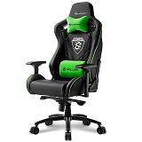 SHARKOON SKILLER SGS4 črna/zelena gaming stol